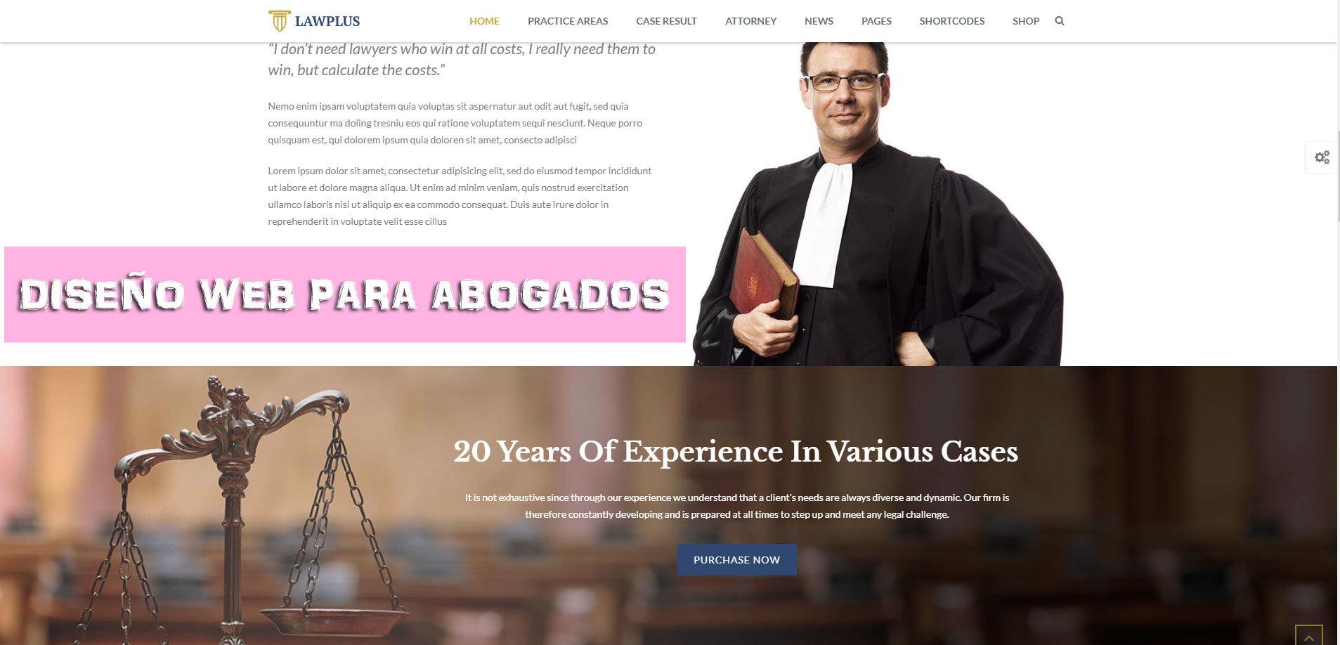 Dise o web para abogados consejos web para bufete de abogados for Disenar un despacho