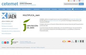 diseño web multiplica jaen Diputacion Jaén Cetemet