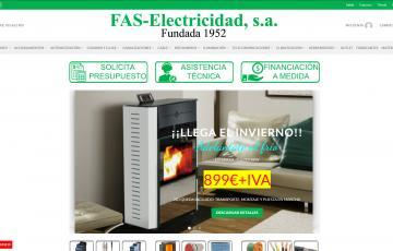 diseño tienda online material eléctrico Jaén