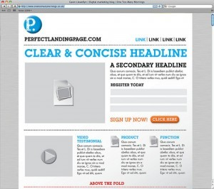 diseño responsive landing page marketing online