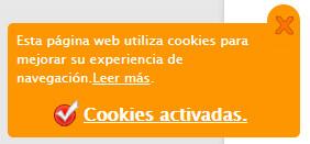 aviso ley de cookies