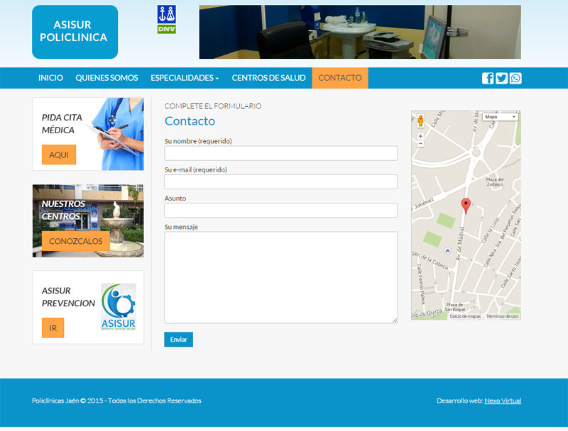 diseño web responsive policlinicas Jaén