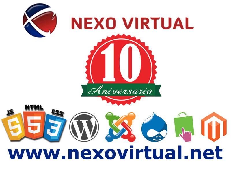 aniversario nexovirtual diseño web