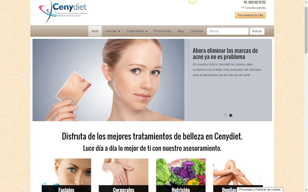 diseño web clínica de medicina estética Cenydiet Jaén
