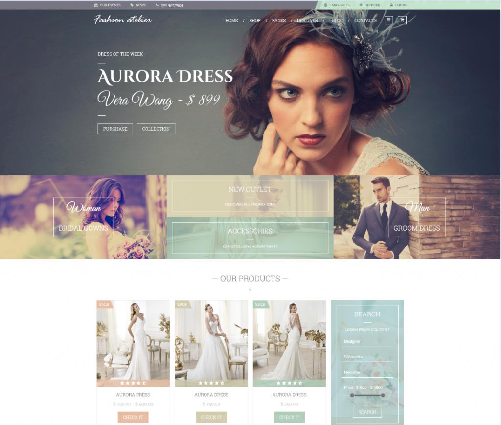 Paginas de venta de vestidos de novia