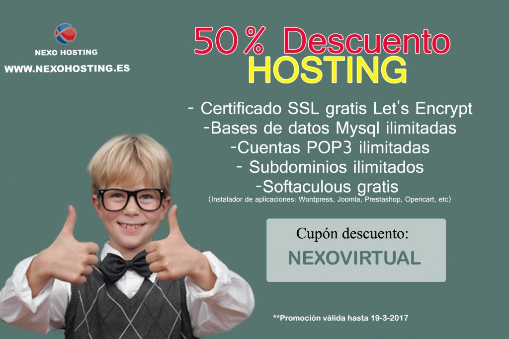 descuento hosting cpanel