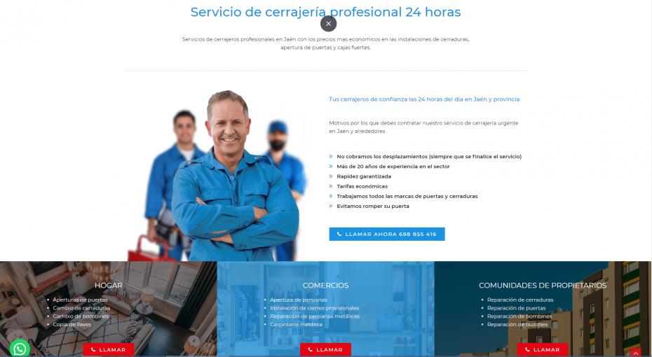 diseño paginas web para cerrajeros