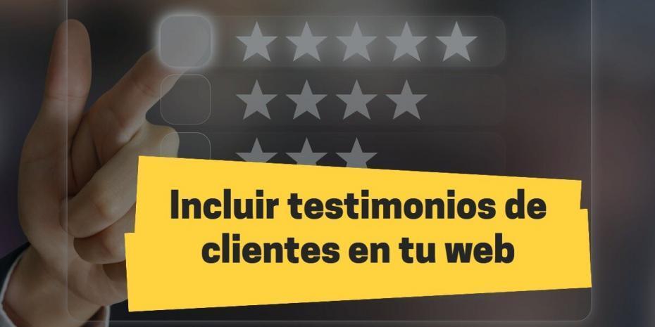 incluir testimonios clientes en pagina web