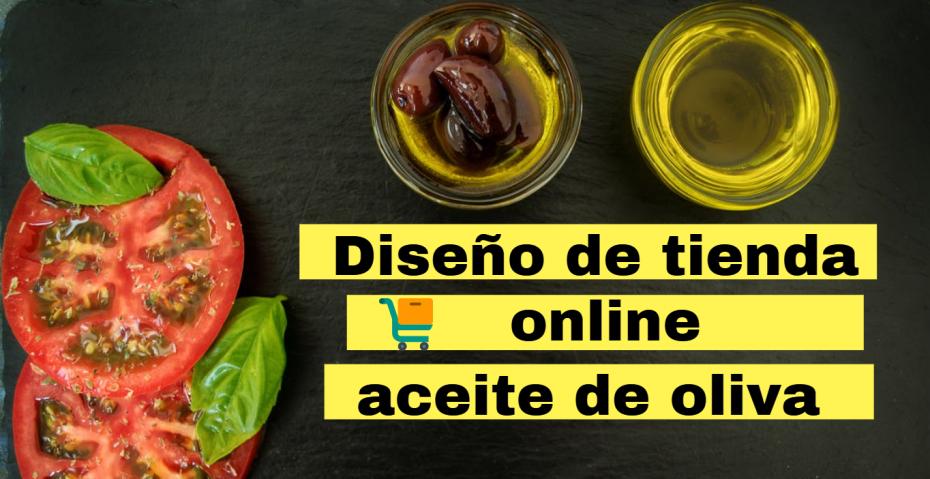 diseño de tienda de aceite de oliva virgen extra