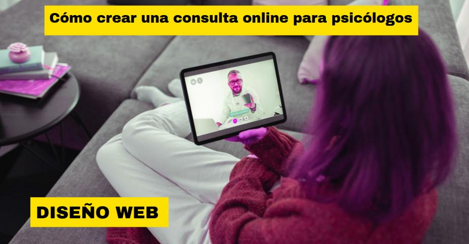 diseño web para consulta online de psicologos